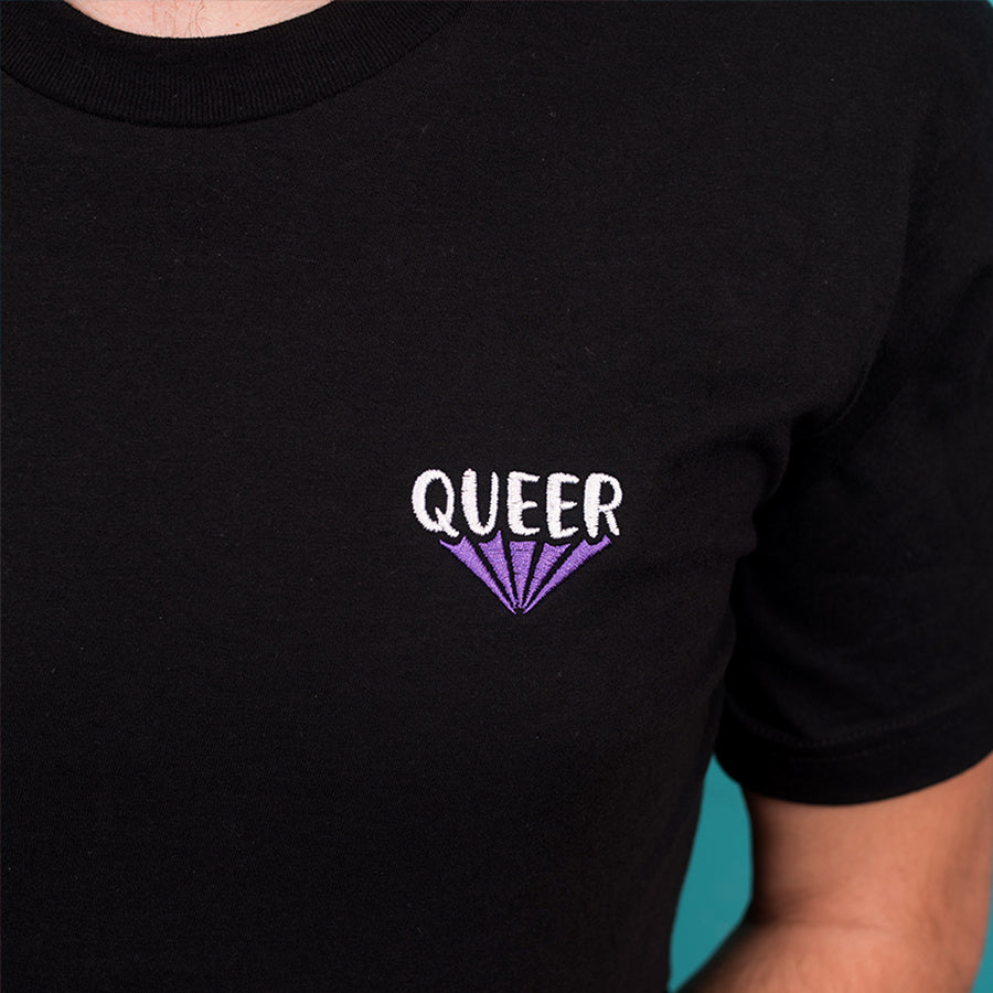 Queer Embroidered T-Shirt - GAYPIN'