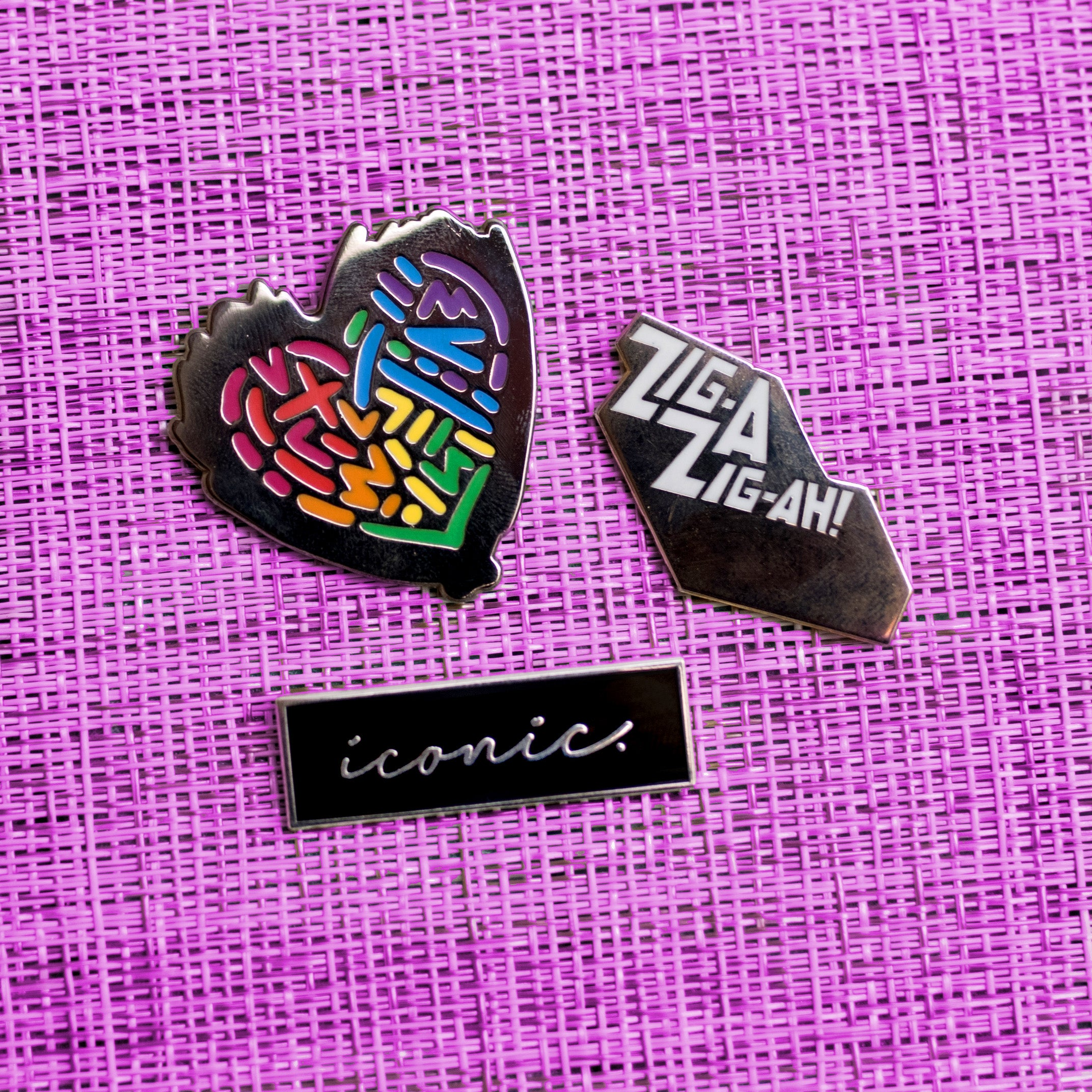 Messy Rainbow Heart Pin - GAYPIN'