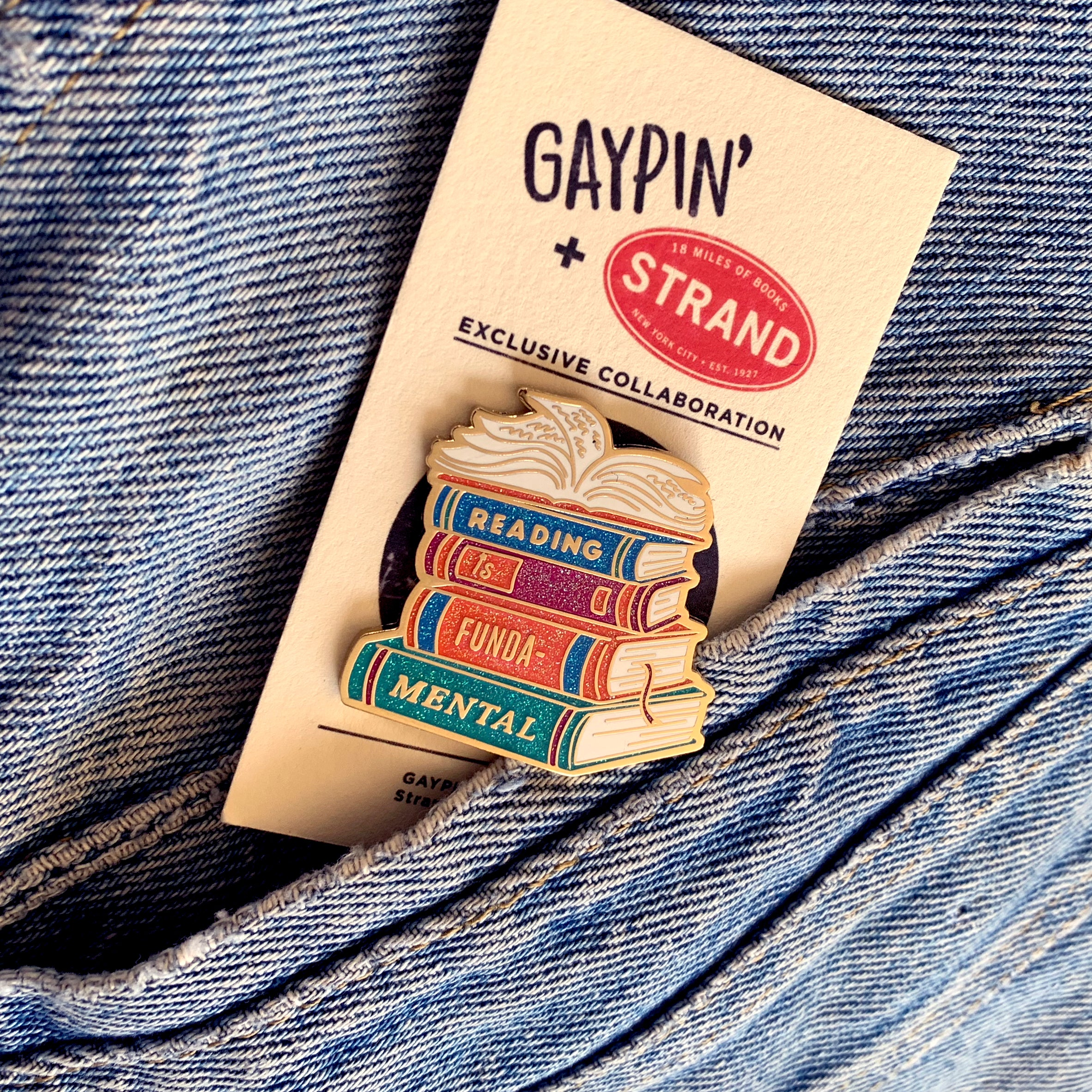 Reading Is Fundamental pin - GAYPIN'