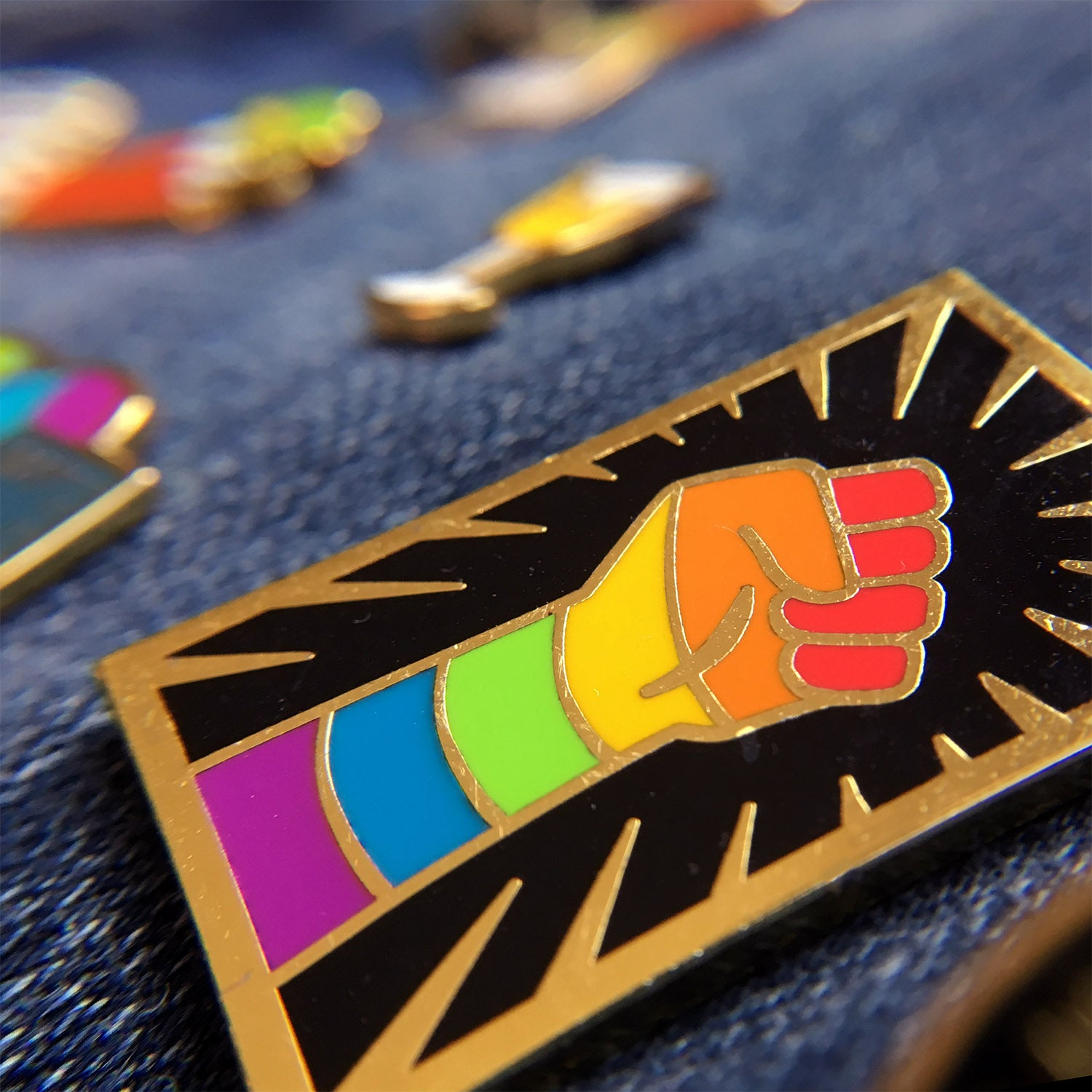Rainbow Resist Pin - GAYPIN'