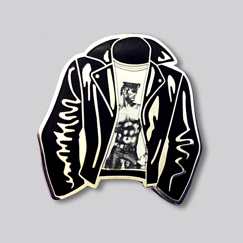 Tom Of Finland Leather Jacket Pin