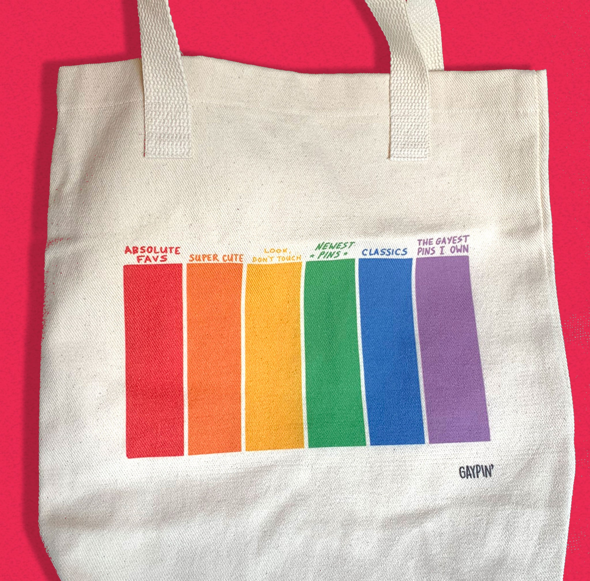 Pin Tote Bag - GAYPIN'