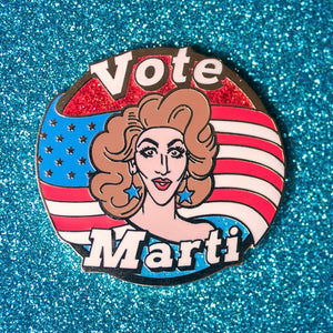Vote Marti pin - GAYPIN'