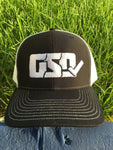 "GSD Mesh Snap Back Hat - Black / White - ""Mike Jack"""