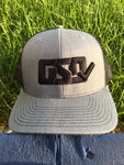 "GSD Mesh Snap Back Hat - Heather Grey / Black - ""The Admiral"""