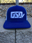 "GSD Mesh Snap Back Hat - Royal / White - ""Mr. Robinson"""