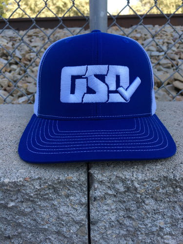 "GSD Mesh Snap Back Hat - Royal / White - ""Jackie Robinson"""
