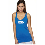 GSD Women's Muscle Tank - Royal / White