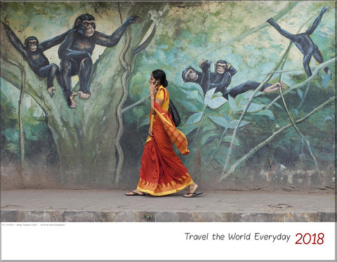 "WALL Calendar ""Travel the World Everyday"" 2018"