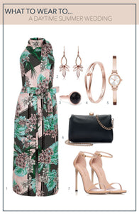 What To Wear To A Daytime Summer Wedding - Green Printed Maxi Dress