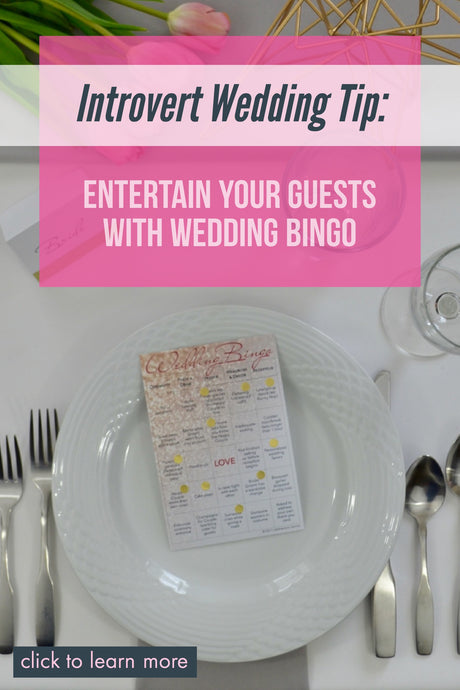 The Introvert's Wedding Reception Game: Wedding Bingo