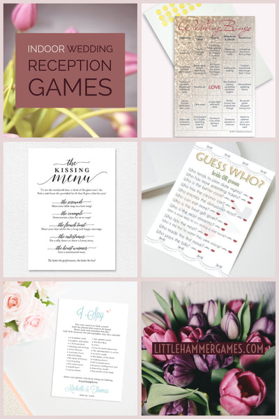 Indoor wedding reception games