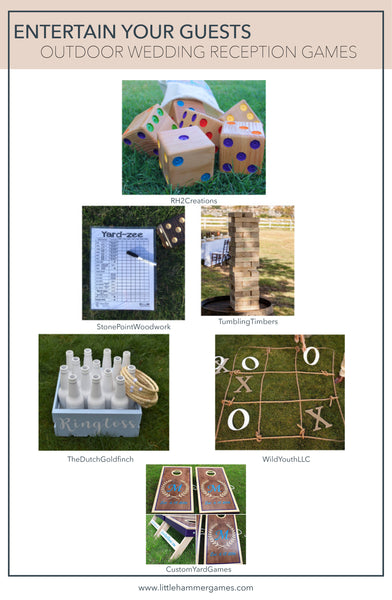 Outdoor wedding reception games
