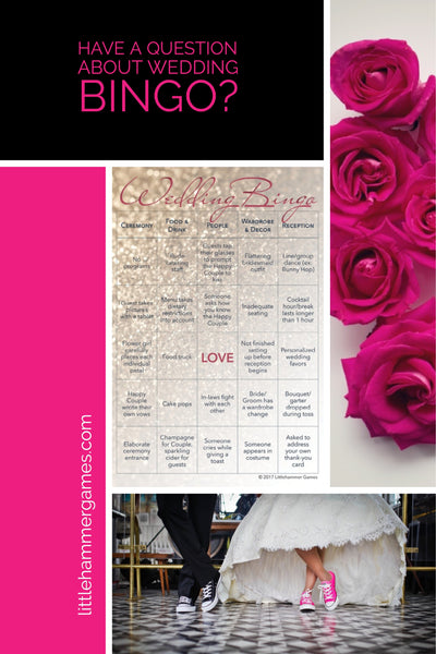 FAQ about Wedding Bingo - the wedding reception game perfect for entertaining your guests #weddingplanning