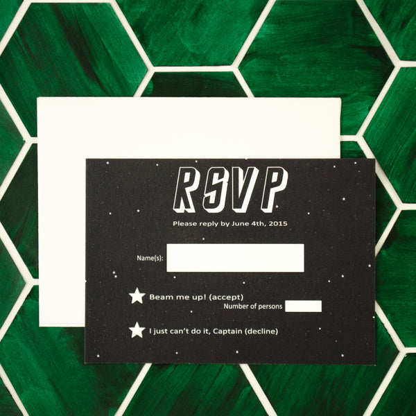 Star Trek RSVP cards