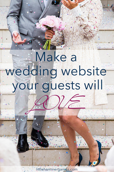 Wedding website ideas: show off your personality while letting guests know about all the important things like a cash bar, registry, and whether kids are invited