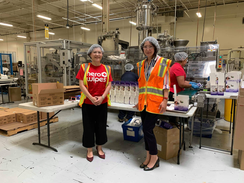 USATT CEO Virginia Sung Visits Diamond Wipes