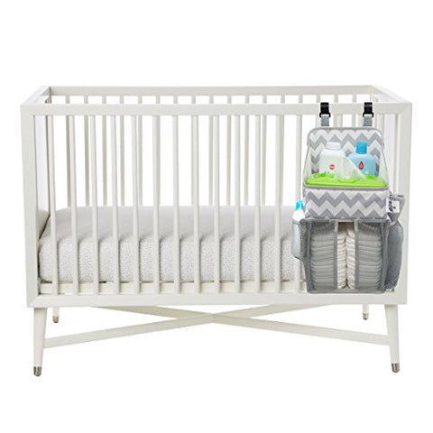 Diaper Caddy and Nursery Organizer on a Crib