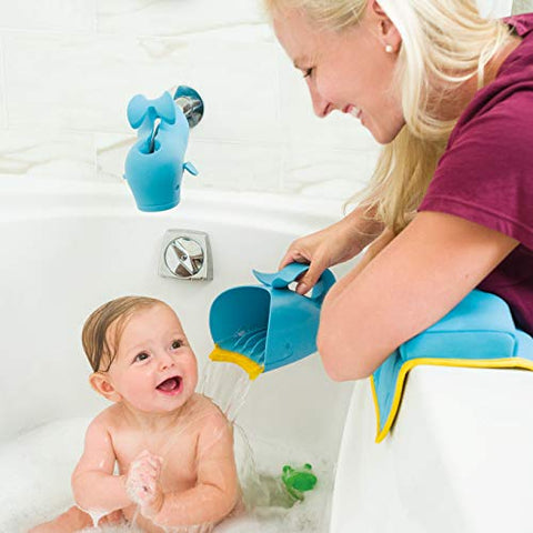 Tear-Free Waterfall Whale Rinser Bath Cup