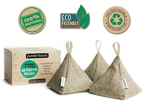 Bamboo Charcoal Air Purifying Bag (Set of 3)