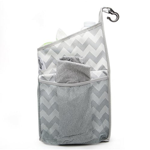 Side Pocket of Diaper Caddy and Nursery Organizer