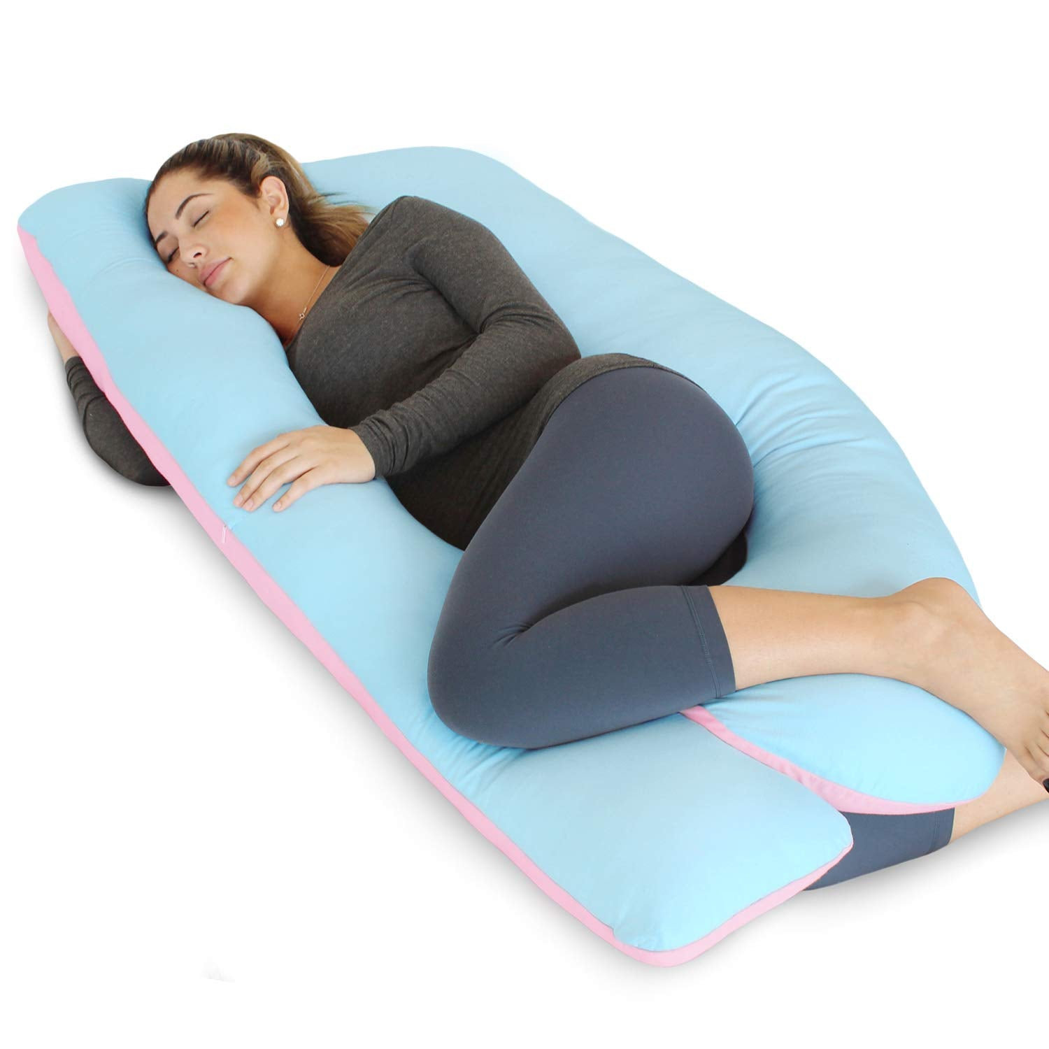 Pink and Blue U-Shape Full Body Pregnancy Pillow