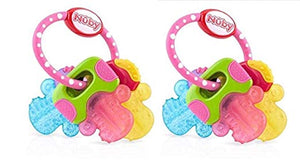 Pink Ice Gel Teether Keys