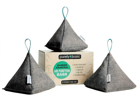 Gray Bamboo Charcoal Air Purifying Bag (Set of 3)