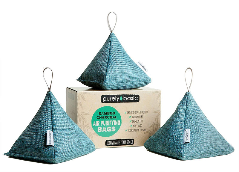 Turquoise Bamboo Charcoal Air Purifying Bag (Set of 3)