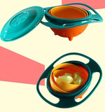 Baby Feeding Gyro Bowl With 360 Spill-Proof Rotation