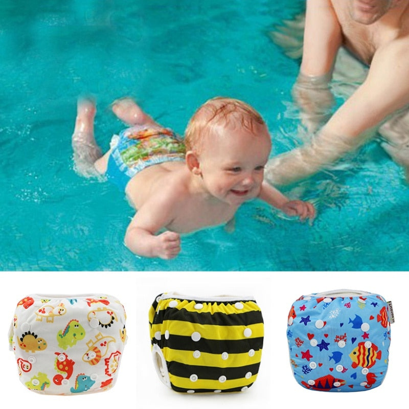 Waterproof Adjustable Swim Diaper Reusable Washable