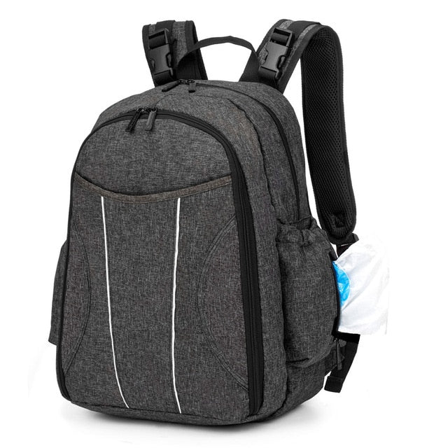 Large Capacity Nappy Backpack with Accessories