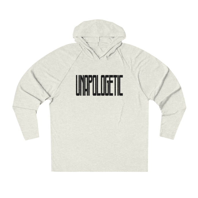 UNAPOLOGETIC in Black Long Sleeve Hooded T-Shirt (UNISEX) T-Shirts - Royally Curved
