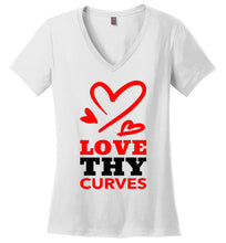 Love Thy Curves V-Neck Tee (Red/Black) T-Shirts - Royally Curved