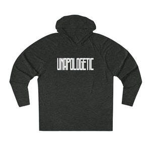 UNAPOLOGETIC in White Long Sleeve Hooded T-Shirt (UNISEX) T-Shirts - Royally Curved
