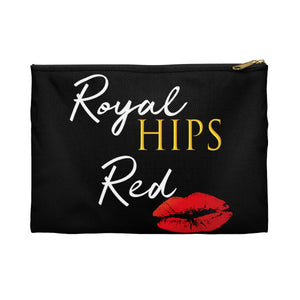 Royal Hips Red Lips Accessory Pouch Bags - Royally Curved