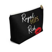 Royal Hips Red Lips Accessory Pouch with T-Bottom Bags - Royally Curved
