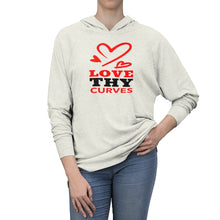 Love Thy Curves Long Sleeved Hooded T-Shirt (UNISEX) T-Shirts - Royally Curved