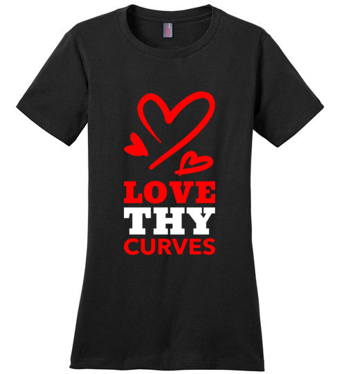 Love Thy Curves Tee (Red/White) T-Shirts - Royally Curved