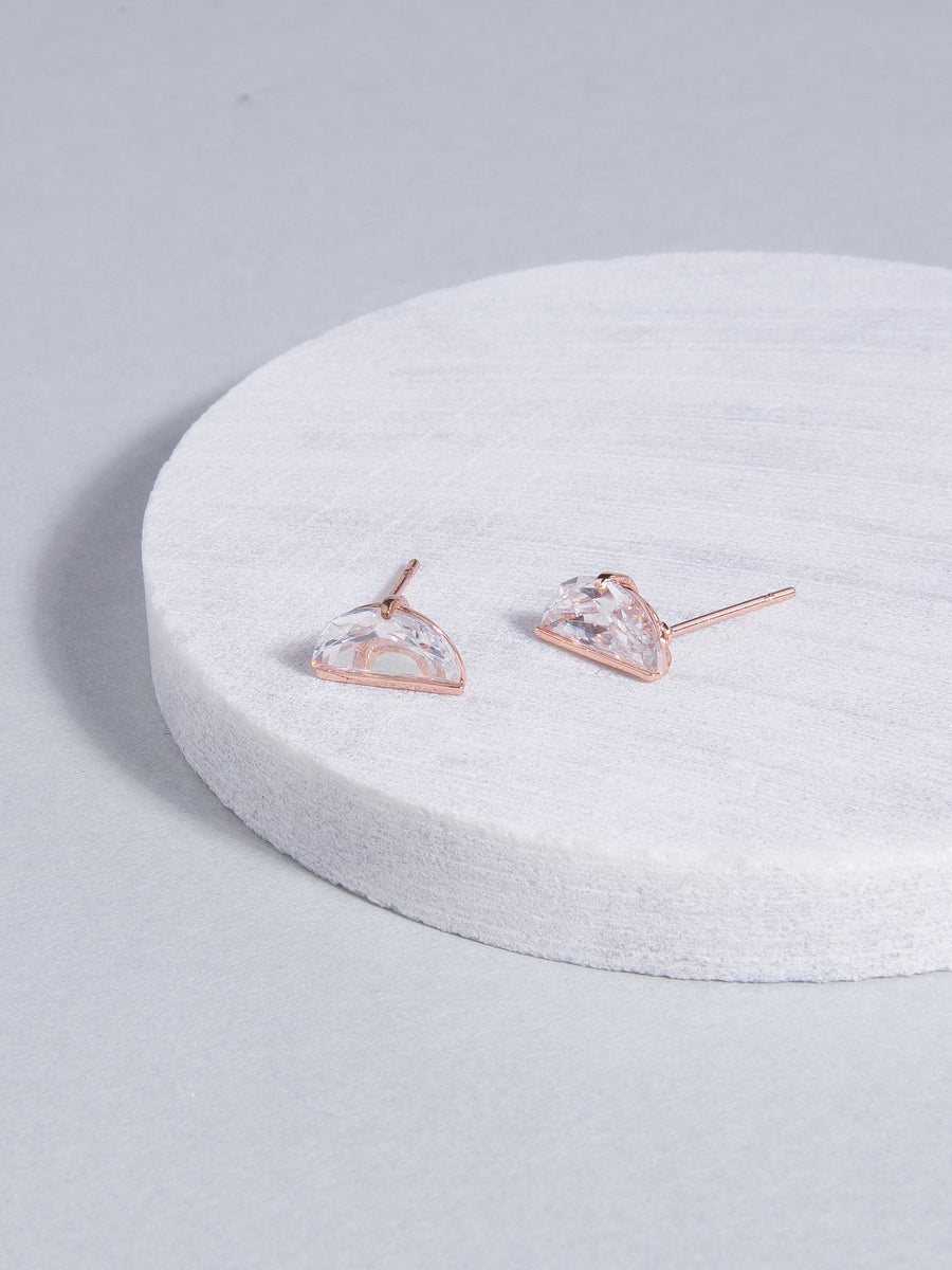 Demi Stud Earrings (Rose Gold)