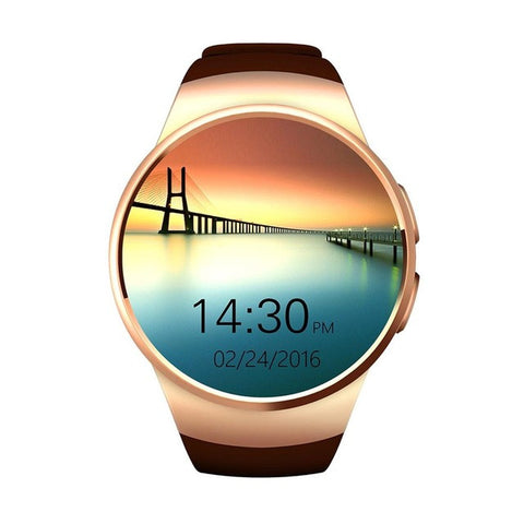 Bluetooth Smart Watch Phone KING-WEAR KW18 Sim&TF Card Heart Rate Smartwatch - Olivia`s Design