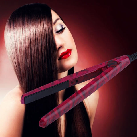 2017 Mini EU Electronic Ceramic Hair Straightener Straightening Iron Tool 220V  Beauty Care Red Hot Selling - Olivia`s Design