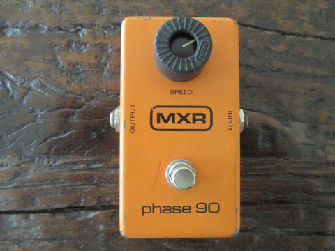 "1980 '80 MXR Phase 90 ""Block"" Logo. Incredible Vintage Phaser With Box."