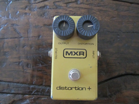 1978 '78 MXR Distortion + Plus Block Logo. Dial Up Vintage Overdrive and Distortion.