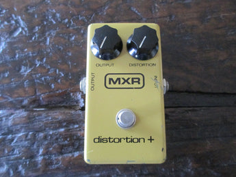 1981 '81 MXR Distortion + Plus Block Logo. Vintage Overdrive Fuzz Distortion.