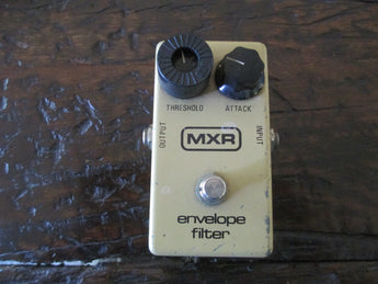 1979 '79 MXR Envelope Filter Block Logo Script Backplate