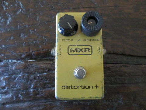 1979 '79 MXR Distortion Plus + Block Logo Script Backplate