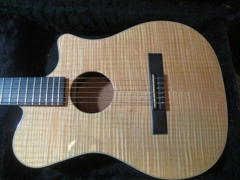Gorgeous Carvin CL450 Acoustic Electric Nylon String Classical Guitar