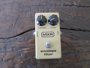Vintage 1970s '70s MXR Envelope Filter Block Logo Block Backplate