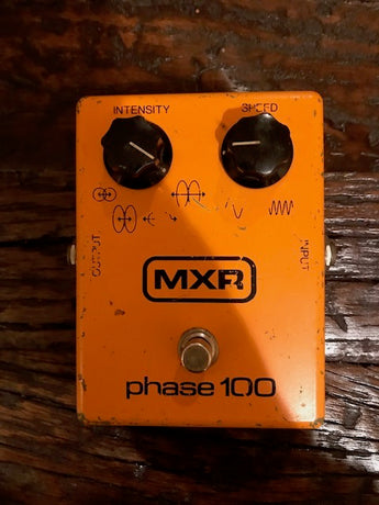Buttery, Shimmery, Vintage 1977 '77 MXR Phase 100 phaser pedal